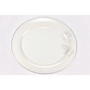 Набор 6 тарелок подстановочных 30см «Жемчужная роза»