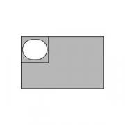 Гастроемкость (1/6), пластик, H=6.5,L=17.6,B=16см