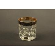 Рюмка виски хрусталь с золотом наб. 6 шт