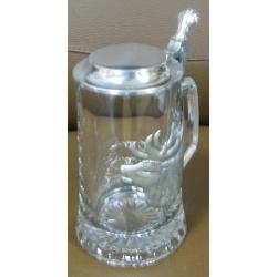 Пивная кружка стеклянная «Олень»