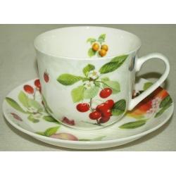 Чашка с блюдцем «Фруктовый сад»