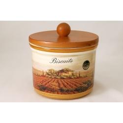 Банка для сыпучих продуктов с деревянной крышкой (большая) «Кьянти» 2 л