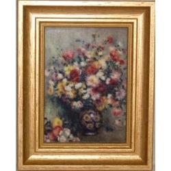 Картина «Георгины» 16,5х21 см.Серия: Renoir.Подарочная упаковка