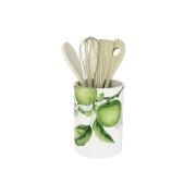 Банка-подставка для кухонных инструментов Зеленые яблоки
