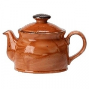 Чайник «Крафт»; фарфор; 425мл; терракот