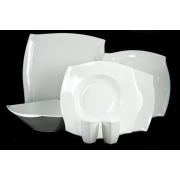 Сервиз столовый из 22 предметов Форте белый