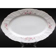 Блюдо овальное 34 см «Роза серая 5396011»