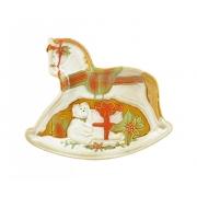 Тарелка для печенья 25*22 см в виде лошадки «Санта»