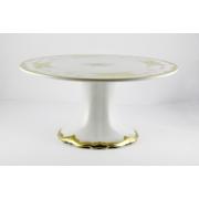 Тортница 24 см. н/н «Кленовый лист белый»
