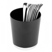 Контейнер для мусора настол., пластик, D=13,H=15см, черный