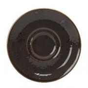 Блюдце «Крафт», фарфор, D=155,H=15мм, серый