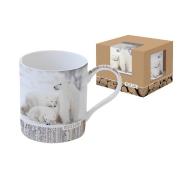 Кружка Белые медведи в подарочной упаковке