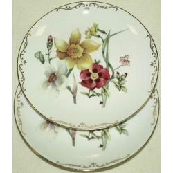 Набор из 2-х тарелок «Весенний букет» 20 см.