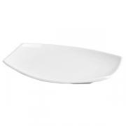 Блюдо «Мини Пати», фарфор, L=16,B=12см, белый
