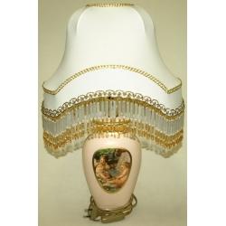 Маленькая овальная настольная лампа  34х28х51см