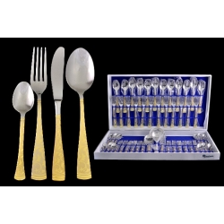 Набор столовых приборов из 51 предмета на 12 персон с золотом «Dubai Oro»