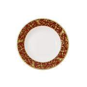 Набор из 6 суповых тарелок 23см (бел. с красн.) Анатолия