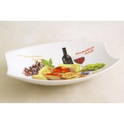 Блюдо овальное (большое) «Сыр, вино и виноград» 31х21 см