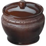 Горшок для запекания керамика; 350мл; коричнев.