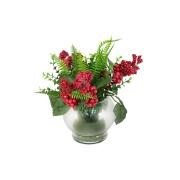 Декоративные цветы Букет в стеклянной вазе