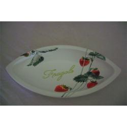 Овальное блюдо «Клубника» 32 см