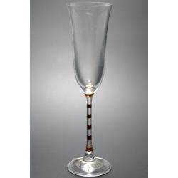Бокал для шампанского 160 мл «Гала» декорация золотом полосы на ножке