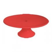 Подставка для торта d=32см красная