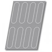 Форма конд. «Мини-багет» на листе 60*40см H=3, L=25.9, B=6.4см