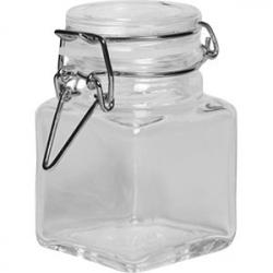 Банка для сыпучих продуктов , стекло силикон, металл; 100мл; прозр.