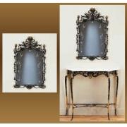Зеркало синий 95х57 см.