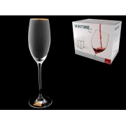 Бокал для шампанского Wintime Золотая отводка
