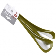 Приборы для сервировки салата 2 пр пластиковые зеленые