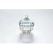 Вазочка с крышкой «Молл» голубая размер: 9/10,4 см