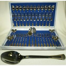 Набор столовых приборов из 51 предмета на 12 персон с золотом «Эра»