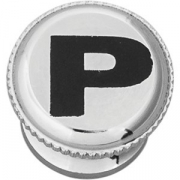 Гайка-регулятор к мельнице для перца металл; серебрян.