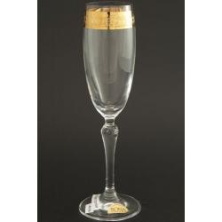Бокал для шампанского 160 мл «Люция» панто+широкое золото по всему декору