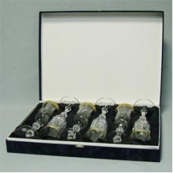 Набор рюмок «Джесси» 6 шт; шампань; декорирование золотом; дошлифовка; подарочная упаковка; сатин