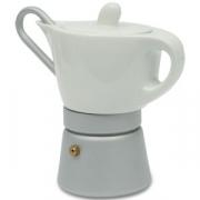 Кофеварка гейзерная, фарфор/алюминий