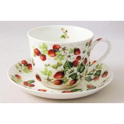 Чашка с блюдцем (0,4л) «Земляника»