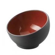 Салатник для компл.; фарфор; 30мл; D=7см; черный,красный