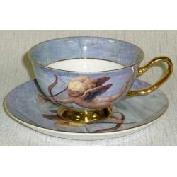 Чашка с блюдцем «Купидон»