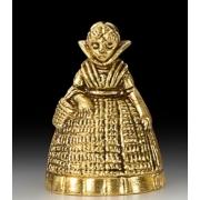 Колокольчик - дама с корзинкой цвет - золото