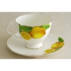 Чашка с блюдцем «Лимоны» 0,5 л