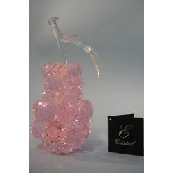 Груша розовая, прозрачный лист d 30 9х19 см