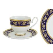 Чашка с блюдцем Императорский (кобальт)