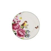 Тарелка Цветы и птицы