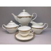 Сервиз чайный «Ампир» 17 предметов на 6 персон