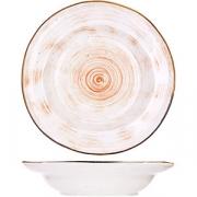 Тарелка глубокая «Пастораль» D=23см; оранжев.