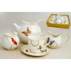 Чайный сервиз из 15 предметов на 6 персон «Бабочки»