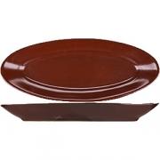 Блюдо овал. «Шоколад» L=28, B=11.5см; коричнев.